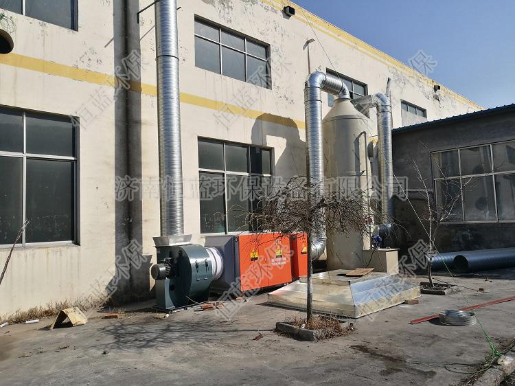 鞋厂涂胶废气处理方案采用哪种设备?