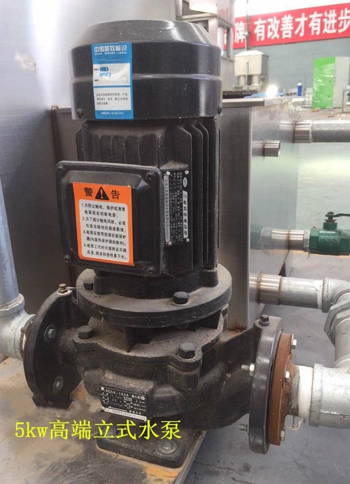 立式水泵+2mm厚水池,废气残渣后由水池捞出。