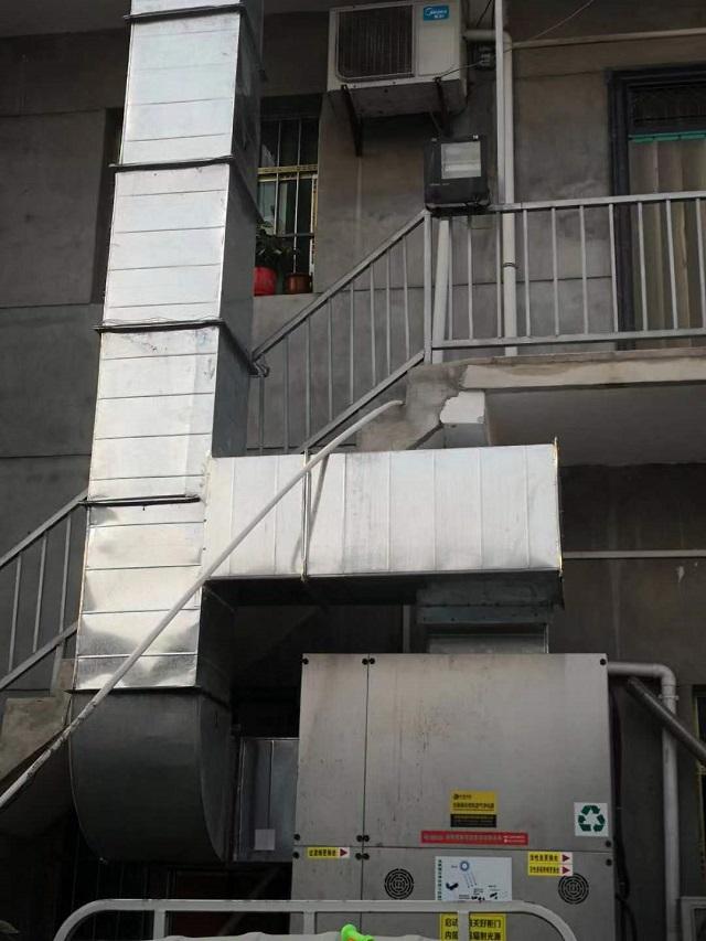 沐鸣2喷漆房废气处理设备安装完毕