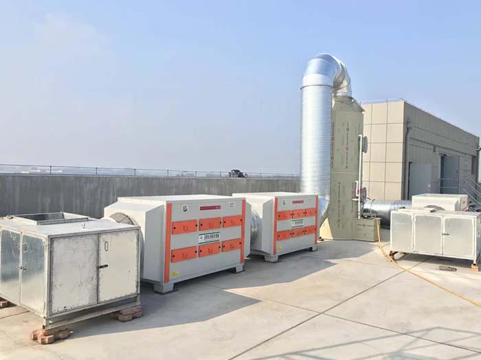 二级活性炭吸附箱安装效果图片